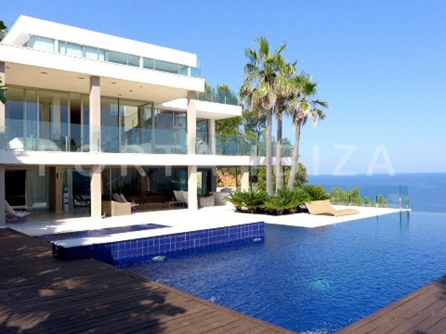 pool area-marvelous villa-ibiza-unique seaview