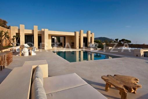pool area-marvelous villa-calo d'en real-ibiza