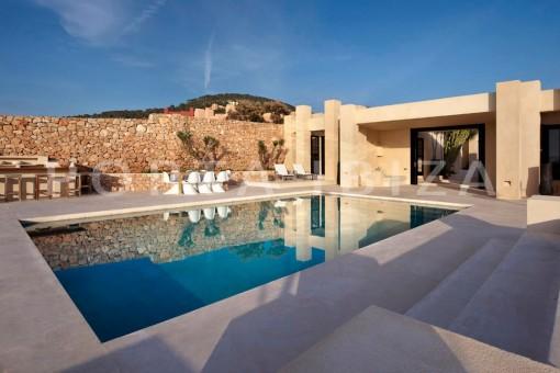 pool terrace-marvelous villa-calo d'en real-ibiza