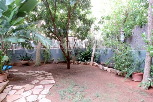 garden-wonderful apartment- Botafoch-Ibiza