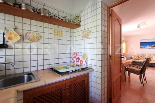 kitchen guesthouse-san carlos-ibiza