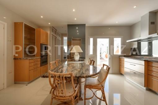 kitchen-unique property-private sea access-fabulous views
