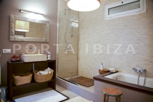 bathroom1-wonderful modern villa-magnificent setting-Na Xamena