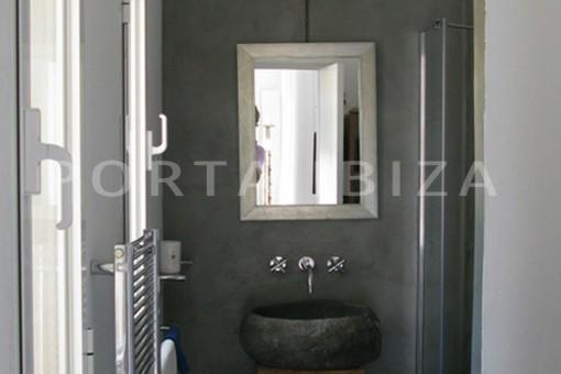 bathroom2-wonderful modern villa-magnificent setting-Na Xamena