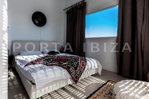 bedroom-wonderful modern villa-magnificent setting-Na Xamena