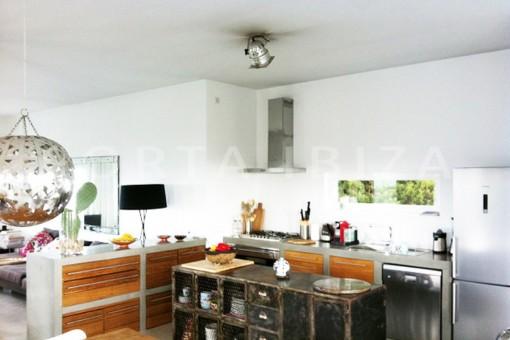 kitchen-wonderful modern villa-ibiza-Na Xamena