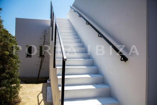 stair to roof-wonderful modern villa-magnificent setting-Na Xamena