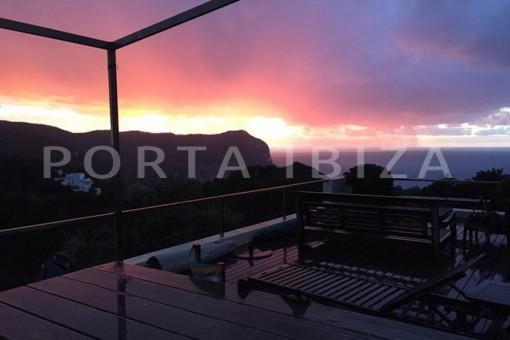 sunset-wonderful modern villa-Na Xamena