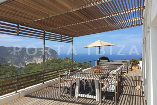terrace area-wonderful modern villa-magnificent setting-Na Xamena