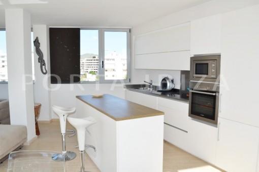 kitchen-beautiful apartment-Botafoch-sea views