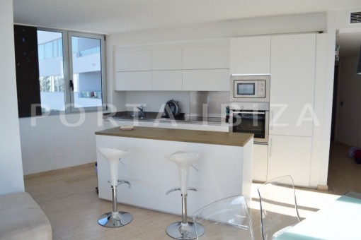 kitchen-beautiful apartment-Botafoch