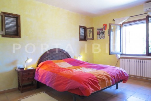 bedroom-high quality country house-Es Cubells-fabulous landscape views