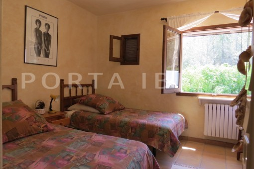 bedroom2-high quality country house-Es Cubells-fabulous landscape views