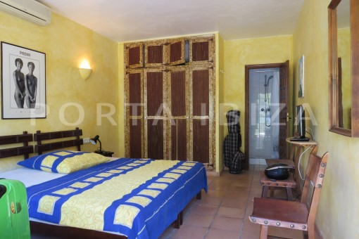bedroom4-high quality country house-Es Cubells-fabulous landscape views