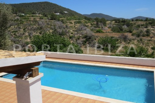pool-high quality country house-Es Cubells-fabulous landscape views
