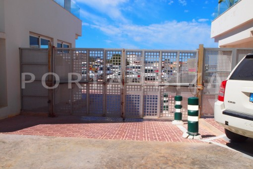 entrance garage-modern-super well maintained apartment-fantastic sea and sunset view