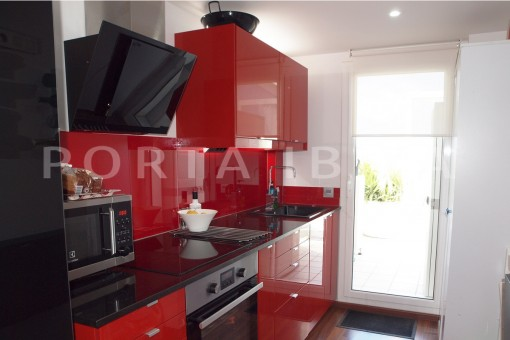 kitchen area-modern-super well maintained apartment-fantastic sea and sunset view