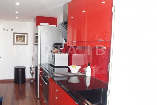 kitchen-modern-super well maintained apartment-fantastic sea and sunset view