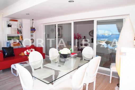 terrace area-modern-super well maintained apartment-fantastic sea and sunset view