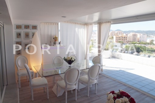 terrace dinner-modern-super well maintained apartment-fantastic sea and sunset view