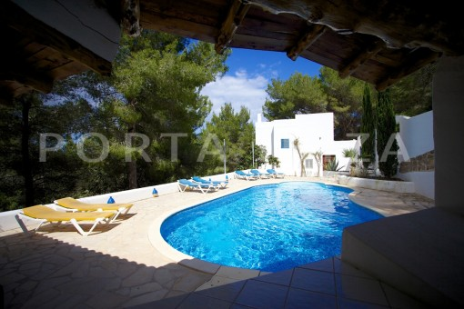 pool area-party and retreat house-close to ibiza