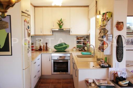 kitchen-beautiful house at Sa Carroca