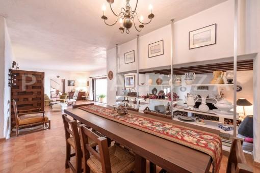 dinner & living-incredible property-fabulous panoramic views-Es Vedra