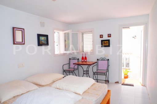 apartment bedroom-charming house-Cala Codolar-views to Es Vedra