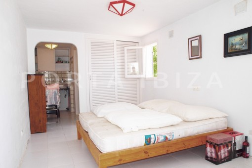 bedroom-apartment-charming house-Cala Codolar-views to Es Vedra
