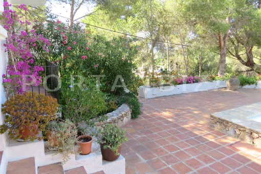 back terrace-wonderful house at Can Germa-great sea view