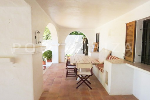 chillout terrace-wonderful house at Can Germa-great sea view