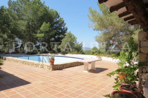 pool area-wonderful house at Can Germa-great sea view