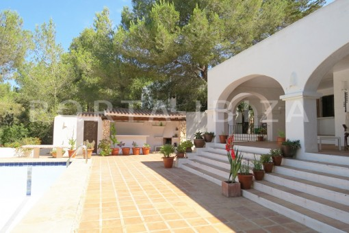 terraces-wonderful house at Can Germa-great sea view