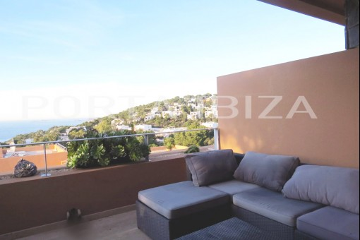 apartment terrace view cala carbo