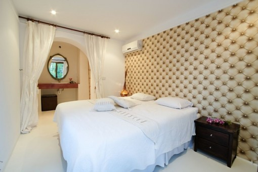 Elegant master bedroom with double bed