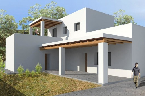 Exterior view of the project