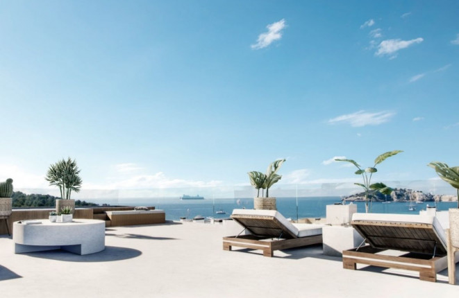 Tremendous penthouse in a commercial building in Talamanca, Ibiza