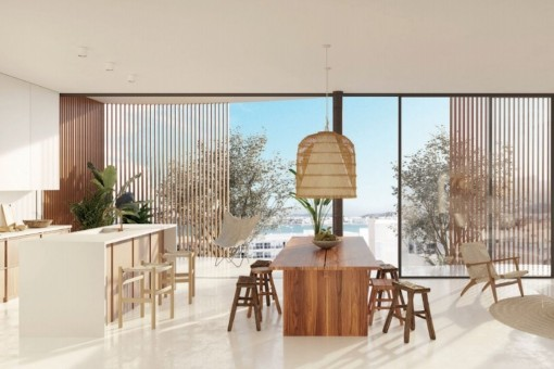 Living area with large panoramic windows