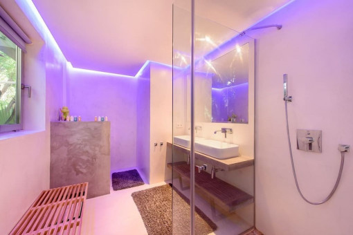 Noble bathroom with shower