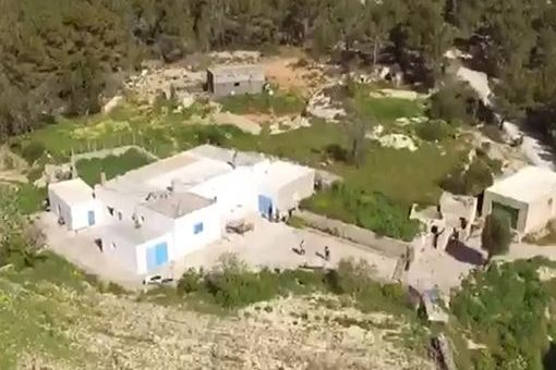 The property from a birds-eye view